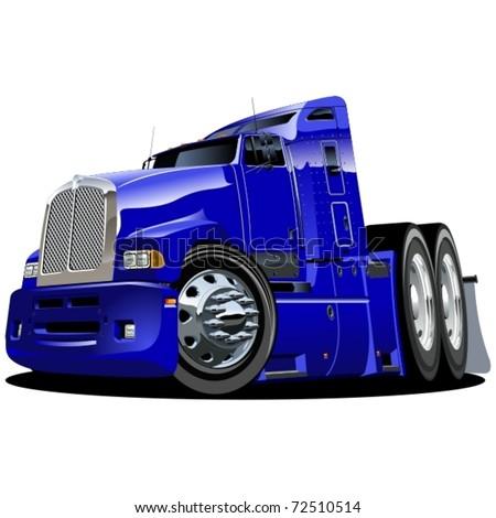 Vector cartoon semi-truck