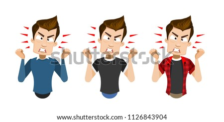 vector cartoon set of young