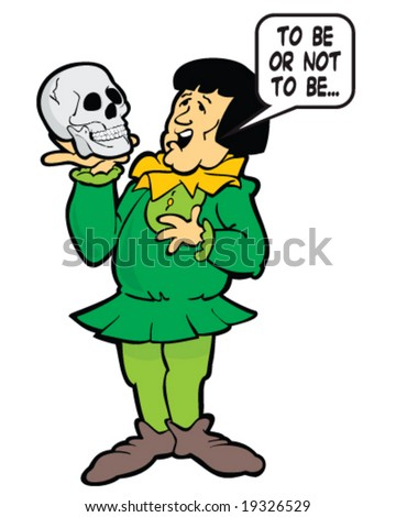 Vector Cartoon Shakespeare'S Hamlet - 19326529 : Shutterstock