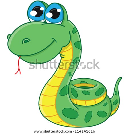 vector cartoon snake. symbol 2013 - stock vector