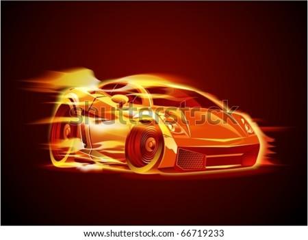 Vector cartoon sportcar