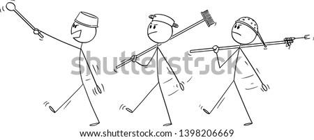vector cartoon stick figure