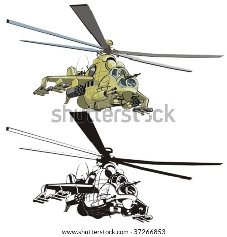 vector cartoon strike helicopter