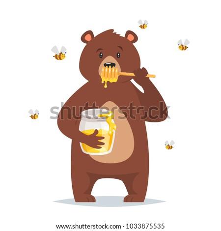 vector cartoon style bear