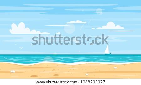 vector cartoon style paradise
