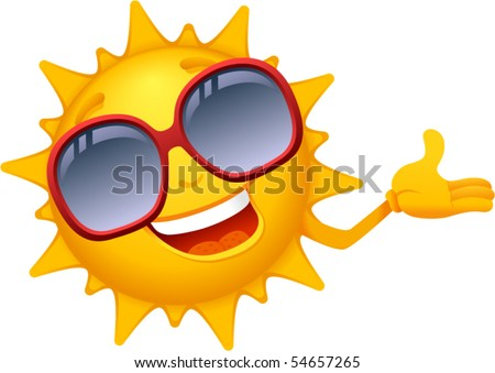 Vector- Cartoon Sun Characters 4