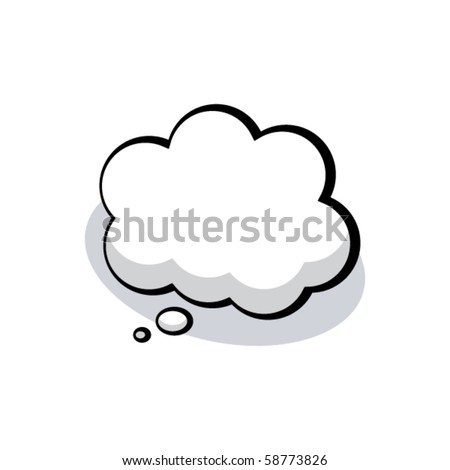 vector cartoon thought bubble