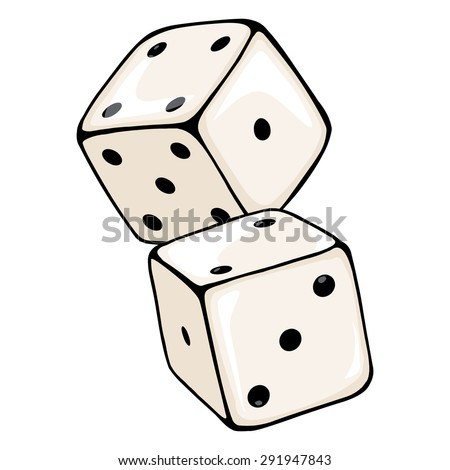 vector cartoon two dices