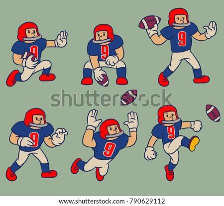 American Football Player Kick Ball Download Free Vectors