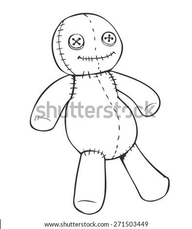 vector cartoon voodoo doll