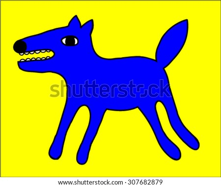 vector cartoon wolf