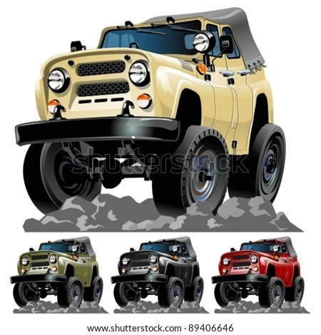 vector cartoon 4x4 car one
