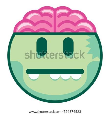 vector cartoon zombie emoji