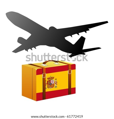 vector case with the national flag of Spain