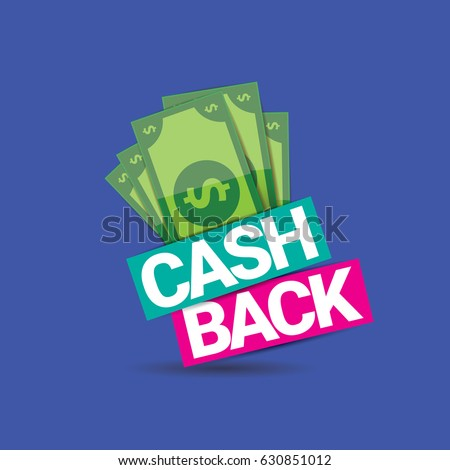 vector cash back icon isolated