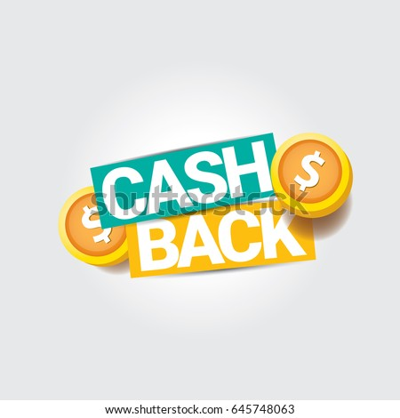 vector cash back icon isolated on grey background. cashback or money refund label