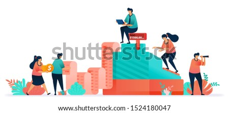 Vector cashier machine on retail or supermarket. Check list of shopping bills on billing note at cash register. Calculate amount of customer spending. credit card or conventional payments with money