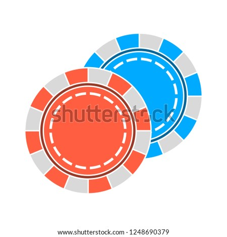 vector casino chip isolated on white background - casino game. gambling sign symbol