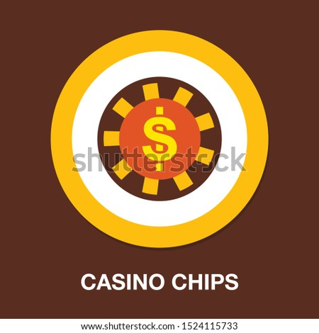 Vector casino chips, casino chips isolated