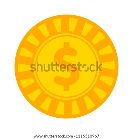 Vector casino chips, casino chips isolated - dollar sign