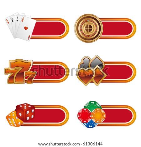 vector casino design element