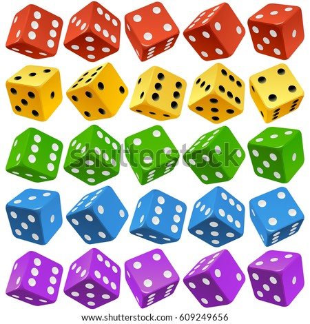 vector casino dice set of
