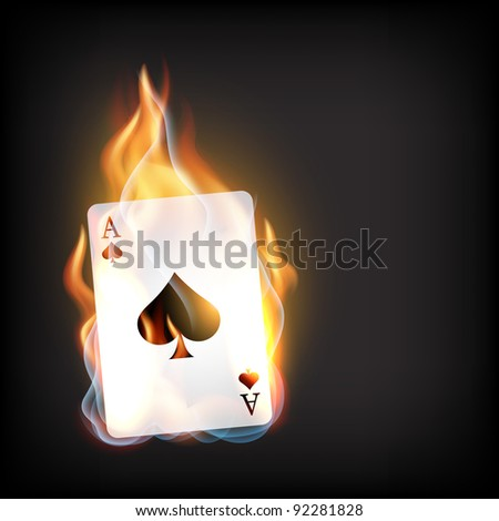 vector casino playing card on dark background