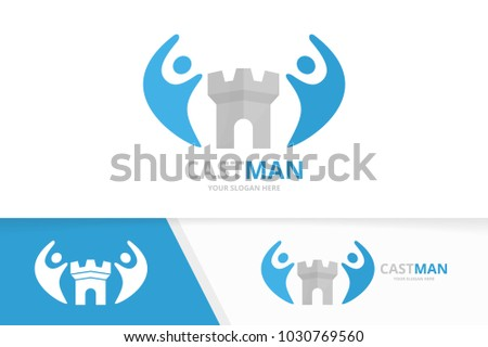 vector castle and people logo