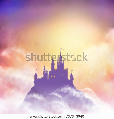 vector castle silhouette on the
