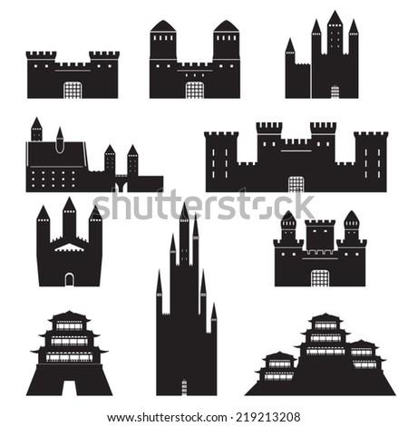 vector castles set