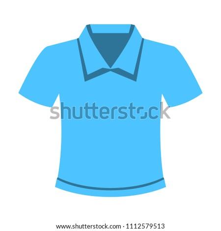 vector casual t shirt template, design fashion illustration - shirt symbol