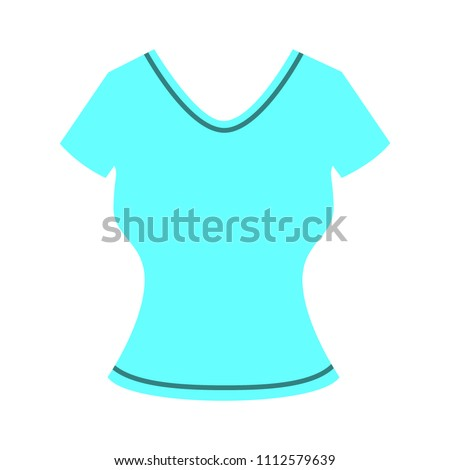 vector casual women blouse template, design fashion illustration - shirt symbol