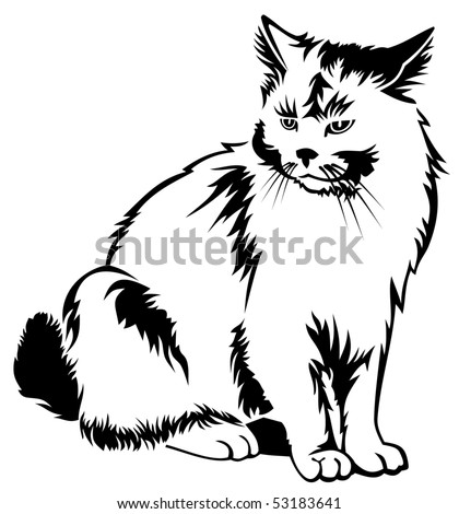Vector cat - stock vector