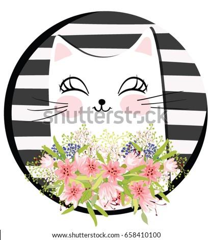 vector cat cartoon character