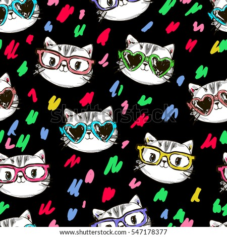 vector cat pattern  cat