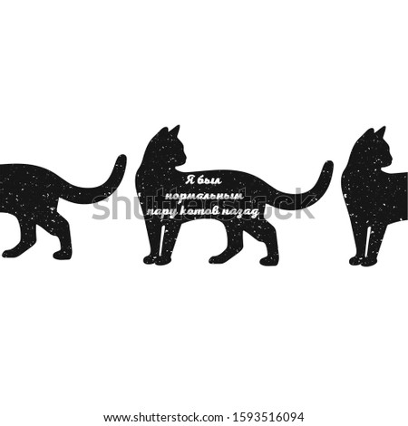 vector cat silhouette the