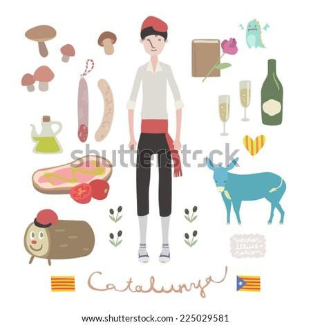 Vector Catalunya Illustration set