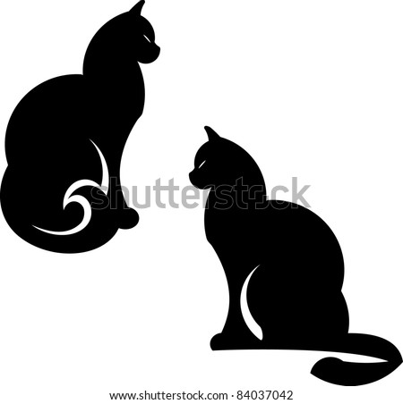 vector cats illustration
