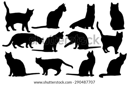 stock-vector-vector-cats-silhouette