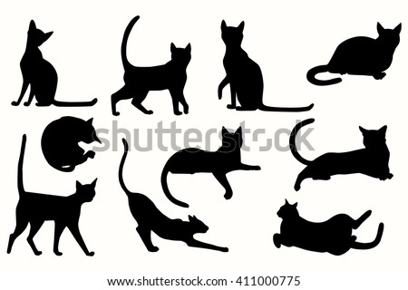stock-vector-vector-cats-silhouette-cats-in-various-poses