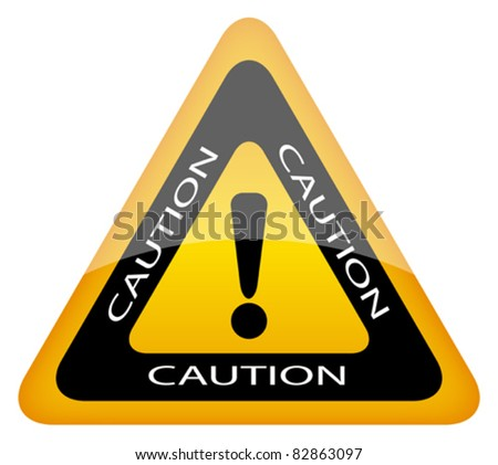 vector caution sign  eps10