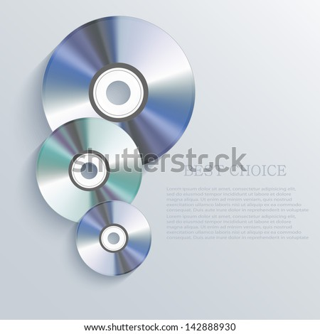 vector cd background eps10