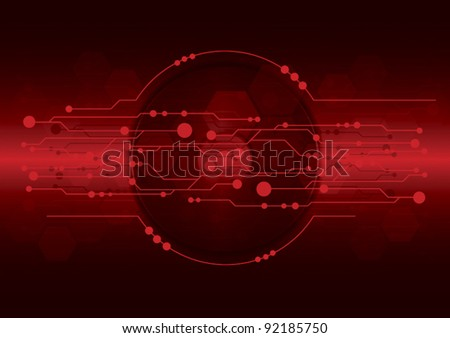 vector cd-dvd on red electrical digital technology background