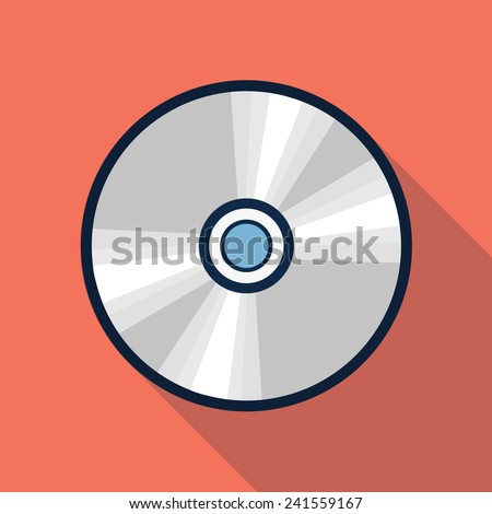 Vector cd icon