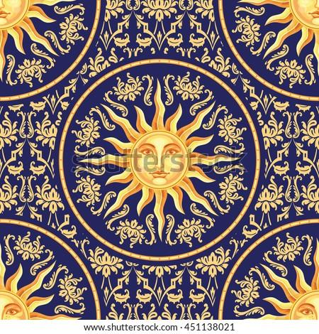 vector celestial baroque blue...