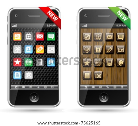 Vector cell mobile or smart phone smartphone