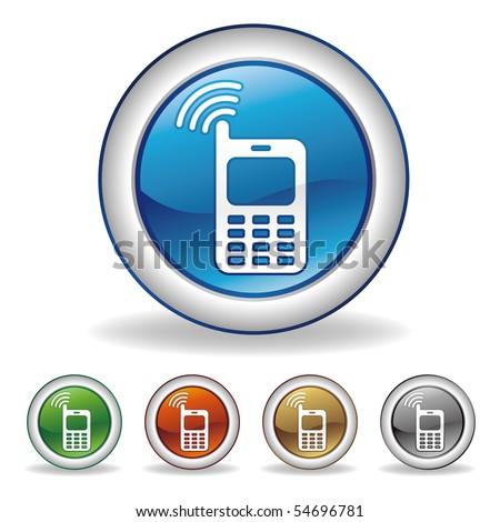 vector cell-phone button set