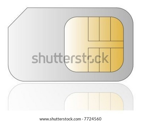 Vector cellphone sim card