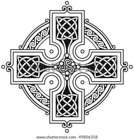 vector celtic cross traditional