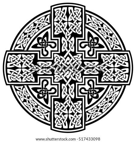 Vector Celtic cross.Vector Celtic Cross for use in templates and samples for tattoo and various designs.Vector illustration.